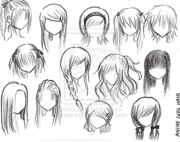 Anime Character Design Process : Anime girl hairstyles by miso hot fmp d character